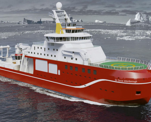 Adept HSG Support Cammell Laird in building of RRS Sir David Attenborough